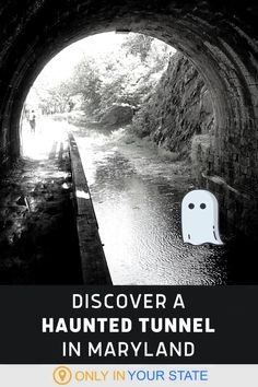 Take a beautiful hike to a haunted tunnel in Maryland! The trail itself is lovely but the tunnel is terrifying. Surrounded by spooky stories, ghost legends, and plenty of paranormal activity, it's perfect for Halloween! It's also a fantastic adventure all year, if you're particularly brave. Spooky Stories, Ghost Stories, Ghost Legend, Haunted Places, Ghost Towns, Paranormal, Maryland, Paths, Abandoned