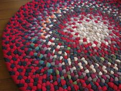 upcycled felted wool rug