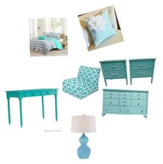 """""""Blue rooms rock"""" by stylebylexie13 ❤ liked on Polyvore featuring beauty, Intelligent Design, Dot & Bo, Quoizel and Inspire Q"""