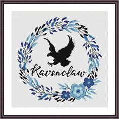 Ravenclaw Floral Harry Potter Cross stitch pattern | Craftsy