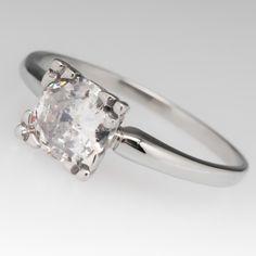 .95 Carat Transitional Cut Diamond Solitaire Ring Fishtail Head