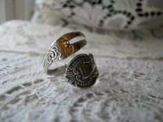 Sterling Fork Ring, Spoon Ring, Fork Ring, Spoon Jewelry, Fork Jewelry, Sterling. $68.00, via Etsy.