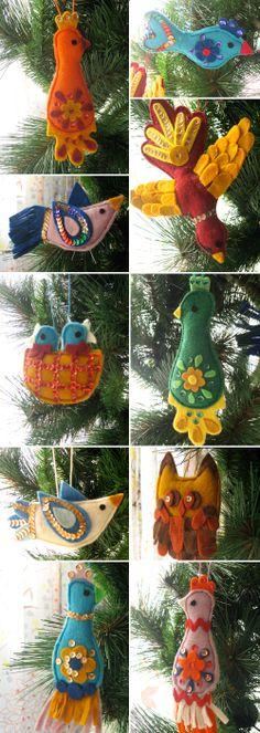 sweet felt ornaments