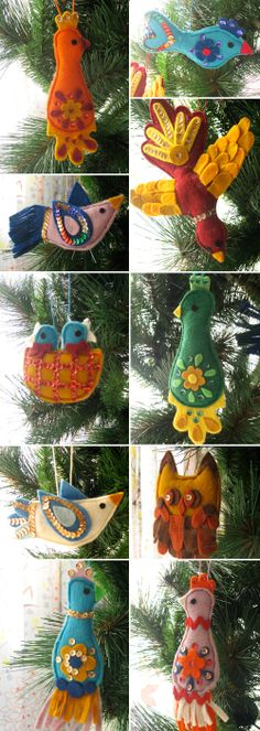 I read the blog post and was amazed to see that she mentioned the pattern that my mother-in-law used to make these exact ornaments in the late 60s.  My sister-in-law has several of them on her tree right now.  Next year this will be my project!