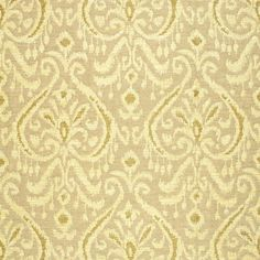 Maroc Linen Damask | 65633 in Sauterene | Schumacher Fabric