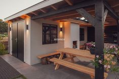 6 Backyard Sheds, Backyard Patio Designs, Outside Living, Outdoor Living, Outdoor Decor, Architecture Details, Interior And Exterior, New Homes, Outdoor Structures