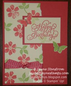 ~ ~ ~Jayne Stamps ~ ~ ~  Bloomin' Marvelous card - Primrose Petals and Certainly Celery