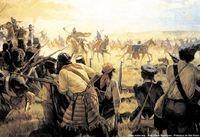 Batalha durante a Guerra dos Farrapos - Revolucao Farroupilha.