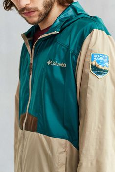 Columbia National Parks Edition Flashback Windbreaker Jacket - Urban Outfitters