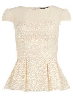 Ivory organza floral top - Lace tops - Tops - Clothing - Dorothy Perkins