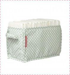 Un joli bac de rangement en tissu pour les couches de bébé en tissu. Bac en  tissu imprimé pois verts. Pratique, il permet d organiser l espace à langer  de ... c5aa188f51f