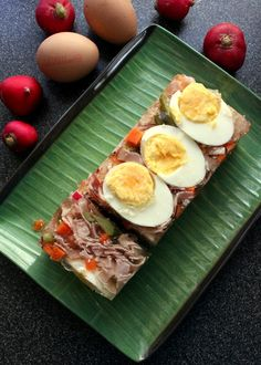 Ham and vegetables in Aspic, Swiss specialty