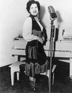 Patsy Cline. Job description: that would be Early popular country music singer who inspires a legion of future singers!!
