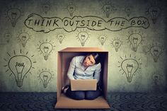 Think outside the box. Tough Interview Questions, Tricky Questions, This Or That Questions, Recycling Process, Celebrity Magazines, Think On, Digital Strategy, Thinking Outside The Box