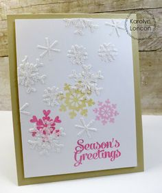 Card by PS DT Karolyn Loncon using the PS Fresh Snow stamp set