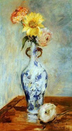 The Blue Vase  Artist:Berthe Morisot Year:1888 Type:Oil on canvas