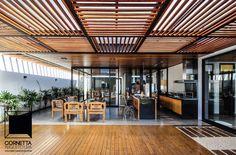 cornetta arquitetura, casas terreas, estruturas metalicas, varanda gourmet, alto padrão, deck