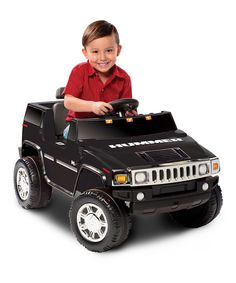 Take a look at this Black Hummer H2 Ride-On on zulily today!