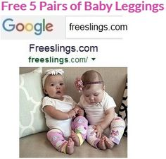Keep Little Knees Clean! 5 Pairs of Baby Leggings for FREE! Great for Baby Shower Gifts VISIT--> http://Freeslings.com