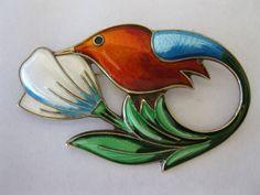 David Anderson enamel and silver brooch  | eBay