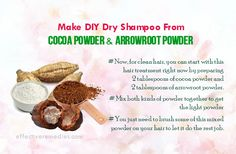 Make DIY Dry Shampoo From Cocoa Powder & Arrowroot Powder