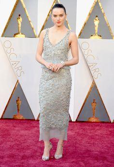 Daisy Ridley Chanel Dress Oscars 2016