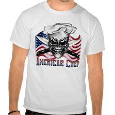 American Chef Skull T Shirts