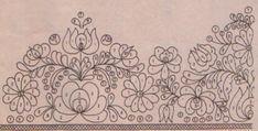 Matyó hímzés (pattern). - Hungary