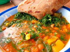 Green Panda's Kitchen - Moroccan Bean Soup with Pumpkin and Chard