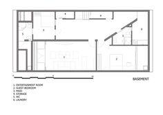 Folding Wall House,Basement Floor Plan