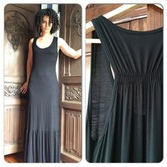 "NWOT Black Ruffle-Bottom Maxi Dress From the fabulous closet of @vivacouture , this never-worn gorgeous dress is in need of a new home! Super soft and versatile, very feminine. I'm 5'7"" for reference... Boutique Dresses Maxi"