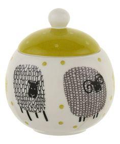 Look at this #zulilyfind! Dotty Sheep Bone China Sugar Bowl #zulilyfinds