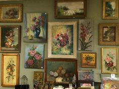 Huge Selection of Floral Paintings   Lots of great art for to choose from for your home.  $45 and up  Country Garden Antiques 147 Parkhouse  Dallas, TX 75207  Read our blog: http://countryga
