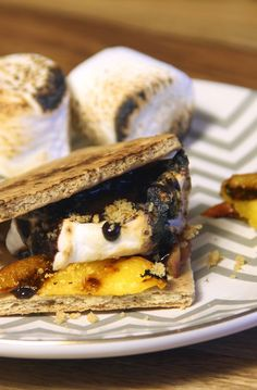 Grilled Peach Cobbler S'more