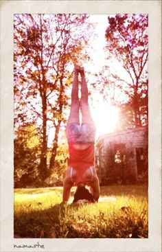 My goal: to be able to do a headstand anywhere.