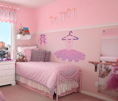 When designing a girl room interior design in ballerina theme, you ought to consider the age of your girl, her likes and dislikes, and also consider how long Dance Bedroom, Ballerina Bedroom, Dance Rooms, Girls Bedroom, Bedrooms, Ballerina Art, Room Girls, Bedroom Themes, Bedroom Decor