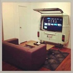 VW Van TV would love this in my man cave someday ♠ re-pinned by http://www.waterfront-properties.com/