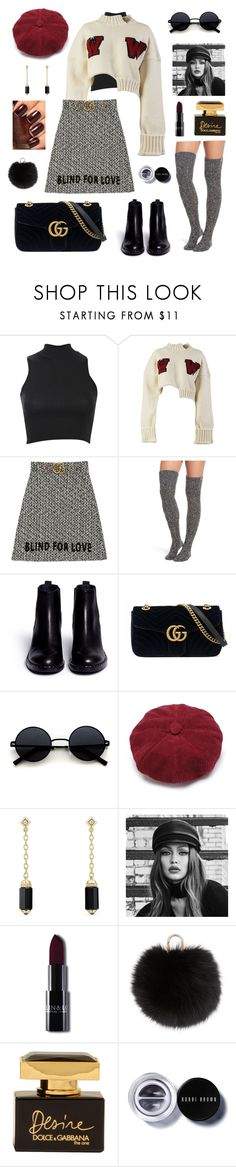 """Untitled #69"" by haylee0110 on Polyvore featuring Pilot, Off-White, Gucci, UGG, Ash, David Yurman, Maybelline, OPI, Yves Salomon and Dolce&Gabbana"