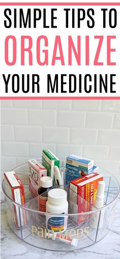 Does your medicine cabinet need a makeover? Check out these simple tips to organize your medicine cabinet. You will love how easy it is to find what you need quickly.