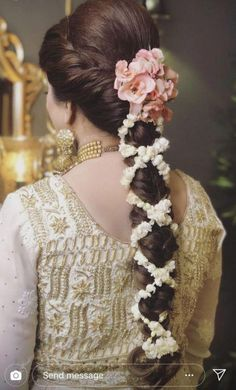 Indian bridal updo wedding finals 43 New Ideas Bridal Hairstyle Indian Wedding, South Indian Bride Hairstyle, Bridal Hair Buns, Bridal Hairdo, Wedding Hairstyles For Long Hair, Wedding Updo, Wedding Suits, Plaits Hairstyles, Bride Hairstyles