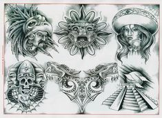 Lessons That Will Get You In The arms of The Man You love Chicano Art Tattoos, Chicano Drawings, Body Art Tattoos, Arte Cholo, Cholo Art, Mayan Tattoos, Mexican Art Tattoos, Clock Tattoo Design, Sketch Tattoo Design