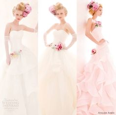"""Our top 3 wedding dress picks from Atelier Aimée 2014 """"Verde Tiffany Bridal Collection"""" #editorspicks #weddingdresses #bridalfashion #weddinggowns           From http://weddinginspirasi.com/2014/03/04/atelier-aimee-2014-wedding-dresses-verde-tiffany-bridal-collection/"""