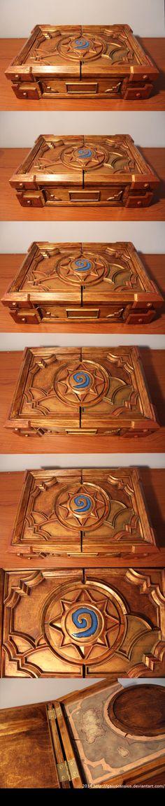 Hearthstone Box replica by gaiuscassius on deviantART