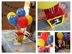 curious george centerpieces   balloon centerpieces   Curious George