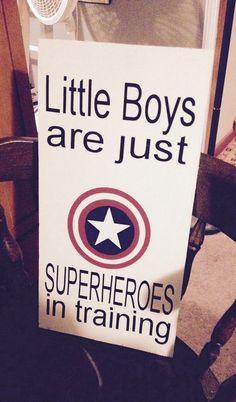 Superhero sign superhero in training sign, sign for boys room, superhero signs by SandJBargainVault