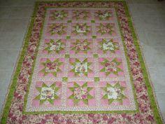 Růžičková patchworková deka