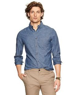 Clean chambray shirt | Gap