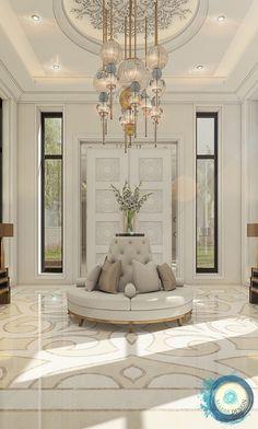 Rosamaria G Frangini Ceiling Design Living Room, Home Design Living Room, Living Room Decor, Luxury Homes Interior, Room Interior, Interior Design, Floor Design, House Design, Arabian Decor