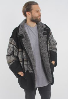Vintage Aztec Sherpa Lined Suede Jacket   GULLYGARMS   ASOS Marketplace