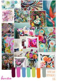 One of my trend boards for SS16, you know I love my florals!